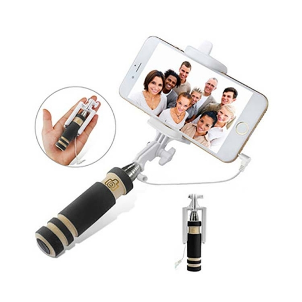 Wired Monopod Extendable Handheld Foldable Mini Selfie Stick