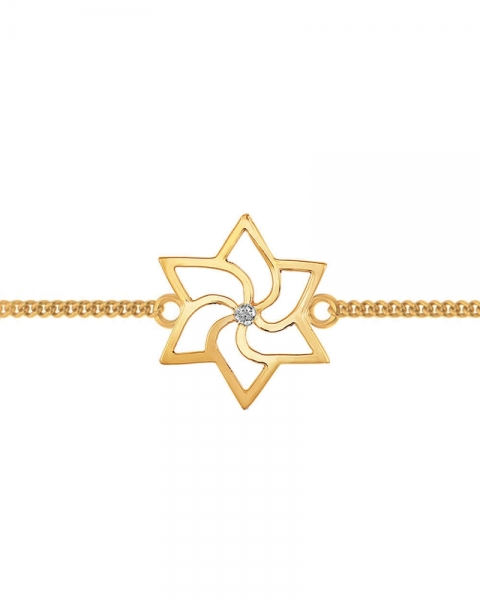 Rakhi Online - Gold Toned & sterling Silver Rakhi