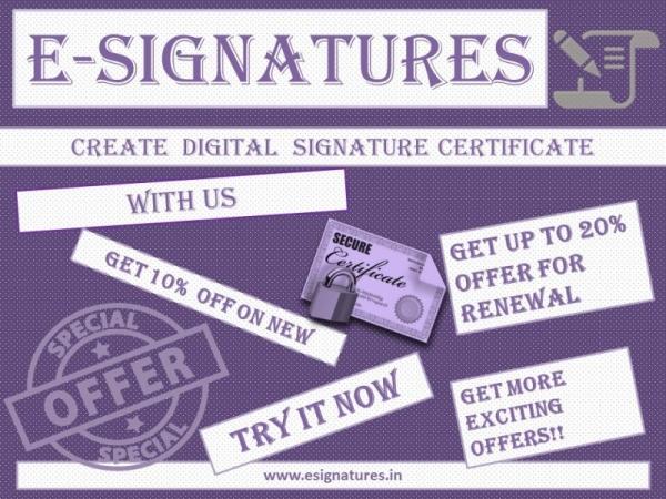 Do you have secured Digital Signature Certificates?