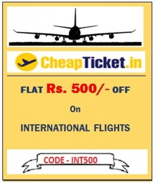 Flat Rs 200 Off on Domestic and Flat Rs. 500 Off On International Flights