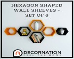 6 Set Of Hexagon Shaped Wall Shelves Only At Decor