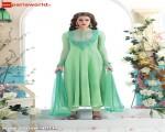Liril Green Georgette Lovely Long Salwar Kameez
