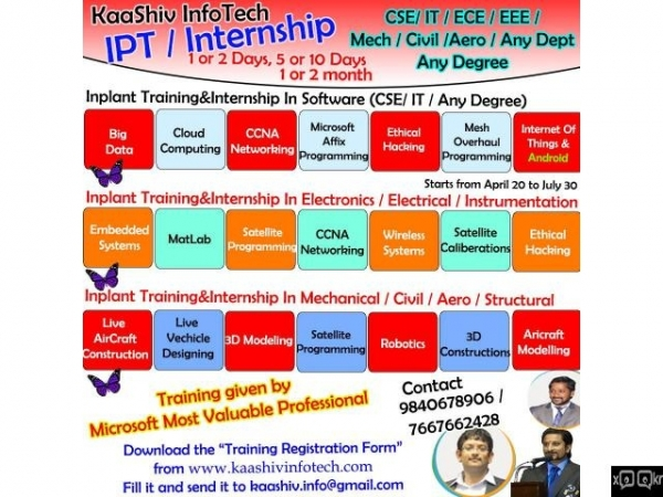 In-Plant Training / Internship Started @ KaaShiv InfoTech