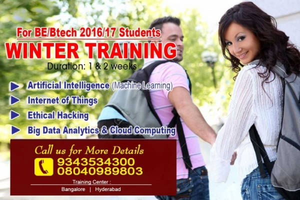 1 & 2 weeks Winter Training Programme for 2016/17 BE/Btech Students