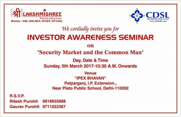 Investor Awareness Seminar at Delhi