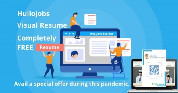 Enhance your resume with Hullojobs Visual CV