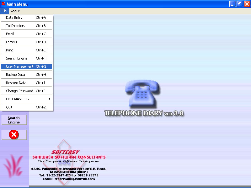 Telephone Diary Software