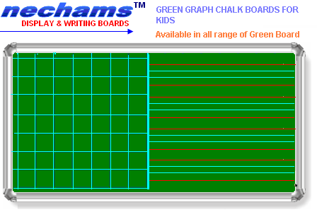 Four Line kids Graph Green Boards