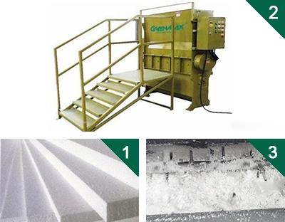 GREENMAX Plastic Foam of Polystyrene Crusher