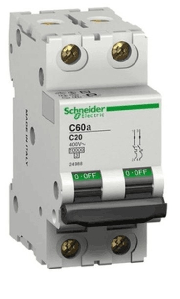 Schneider 2 Pole Miniature Circuit Breaker MCB