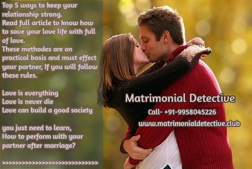 Matrimonial Investigation services
