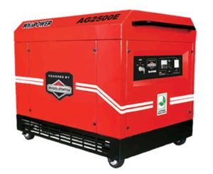 WhisPower 2.5 KVA Portable Petrol Generator (AG2500E)
