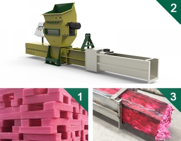 Styrofoam compactors of GREENMAX ZEUS SERIES